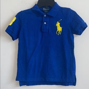 Ralph Lauren Blue Big Pony Embroidery Polo Shirt